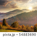 beautiful countryside in mountains at sunset 54883690