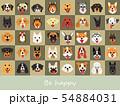 smile dog illustrations background set 54884031