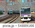 都心を走る通勤電車E231系山手線イメージ 54889166