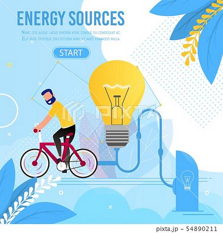 Energy Sources Motivation Cartoon Metaphor Banner 54890211