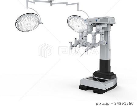 robot surgery machine with surgery lights 54891566