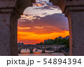 Sunset over the River Seine in Paris 54894394