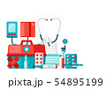 First aid kit equipment background. 54895199