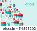 First aid kit equipment background. 54895202