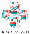 First aid kit equipment background. 54895214