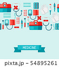 First aid kit equipment background. 54895261