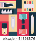 Tools for manicure illustration. Accessories and instruments for nails, toe separator, nail clippers 54898376