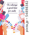 Cartoon manicure print poster. illustration of accessories for nails cuticle pusher, cuticle trimmer 54898382