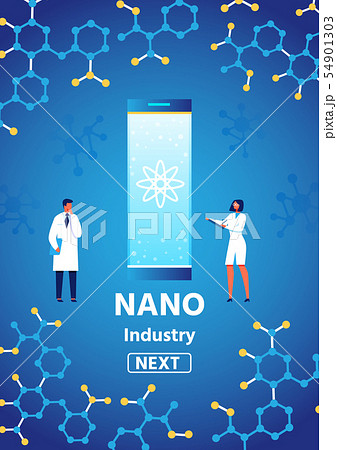 Nano Industry Presenting Text on Vertical Banner 54901303