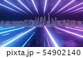 Abstract night city 3D illustration 54902140