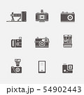 Isolated camera icons in grey shape vector set 54902443