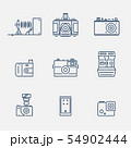 Thin outline camera icons 54902444