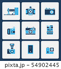 Isolated camera icons in two color shape vector 54902445