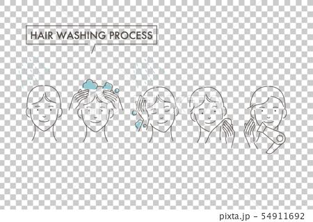 男士洗頭髮:程序 54911692