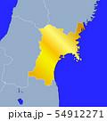 宮城県地図 54912271