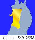 秋田県地図 54912558