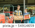 農業 夫婦 男性の写真 54914659
