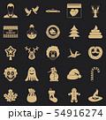 Holiday cake icons set, simple style 54916274