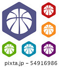 Basketball icons vector hexahedron 54916986