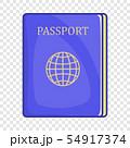 Passport icon in cartoon style 54917374