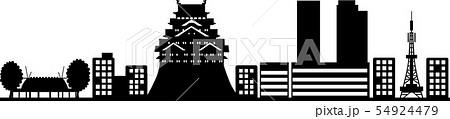 名古屋シルエット1(透過仕様) 54924479