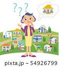 自分の家がわからなくなる、おばあちゃん 54926799