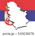 3D map of Serbia on the national flag 54928076