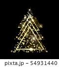 A geometric Christmas tree. Golden Glitter. 54931440