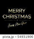 Golden text on black background. Merry Christmas 54931906