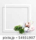 Empty postcard for Christmas and new year wishes 54931907