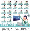 flat type green casual tuxedo men_desk work 54940922