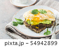 Sandwich with avocado and egg 54942899