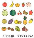 果物 盛り合わせ オーガニック フルーツ 素材 54943152
