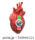 Heart Disease concept. Human heart with toggle 54944111