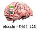 Brain with toggle switch on, 3D rendering 54944123