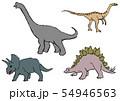 恐竜のクレヨン画 54946563