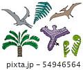 恐竜のクレヨン画 54946564