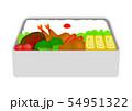 お弁当・愛妻弁当・日の丸弁当 イラスト 54951322