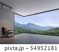 Minimalist room space with nature view 3d render 54952181