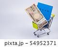 国民年金イメージ 年金手帳 札束 現金 ショッピングカート 54952371