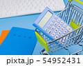 国民年金イメージ 年金手帳 ショッピングカート キーボード 電卓 54952431