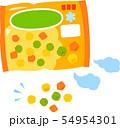 冷凍のミックスベジタブル 54954301