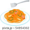 ナポリタンスパゲティとフォーク 54954302