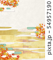 背景素材-和風-和モダン-金-紅葉-秋 54957190