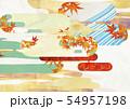 背景素材-和風-和モダン-金-紅葉-秋 54957198