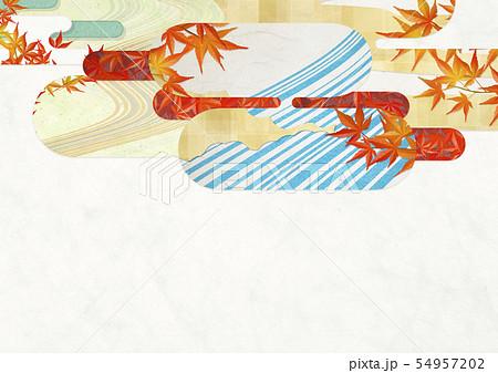 背景素材-和風-和モダン-金-紅葉-秋 54957202