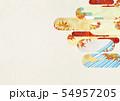 背景素材-和風-和モダン-金-紅葉-秋 54957205