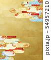 背景素材-和風-和モダン-金-紅葉-秋 54957210