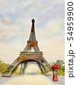 Paris european city landscape. France, eiffel 54959900