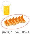 餃子6個ビール生中1杯 54960521